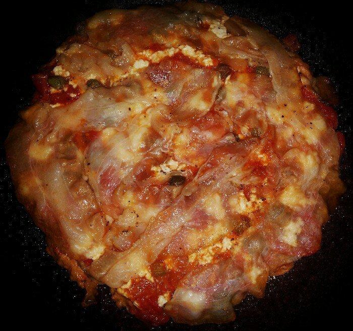 pizza di carne cotta